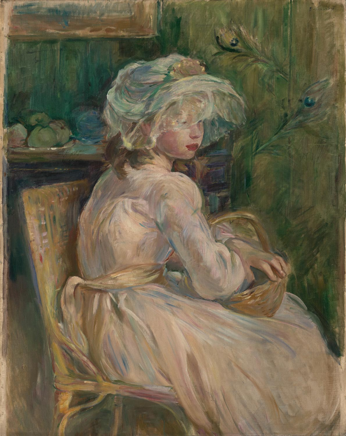 """Philadelphia Museum of Art on Twitter: """"Happy birthday to #BertheMorisot,  who was born #onthisday in 1841. A member of the #Impressionists, she often  painted domestic scenes such as this one. https://t.co/vmokHpZPe4…  https://t.co/c5ofFF0TWh"""""""