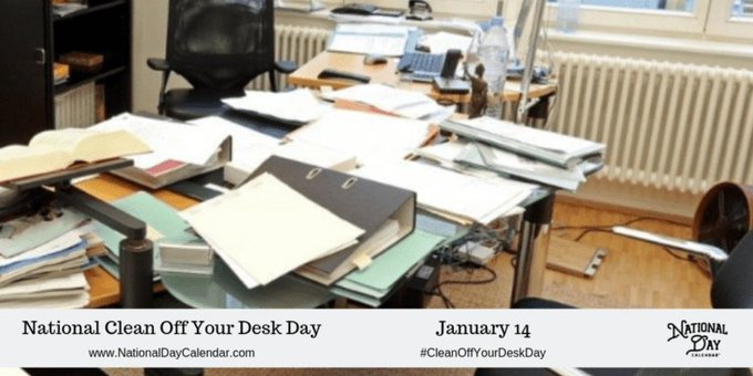 #CleanOffYourDeskDay is ready here in the New Year to inspire you to do some cleaning around your Photo