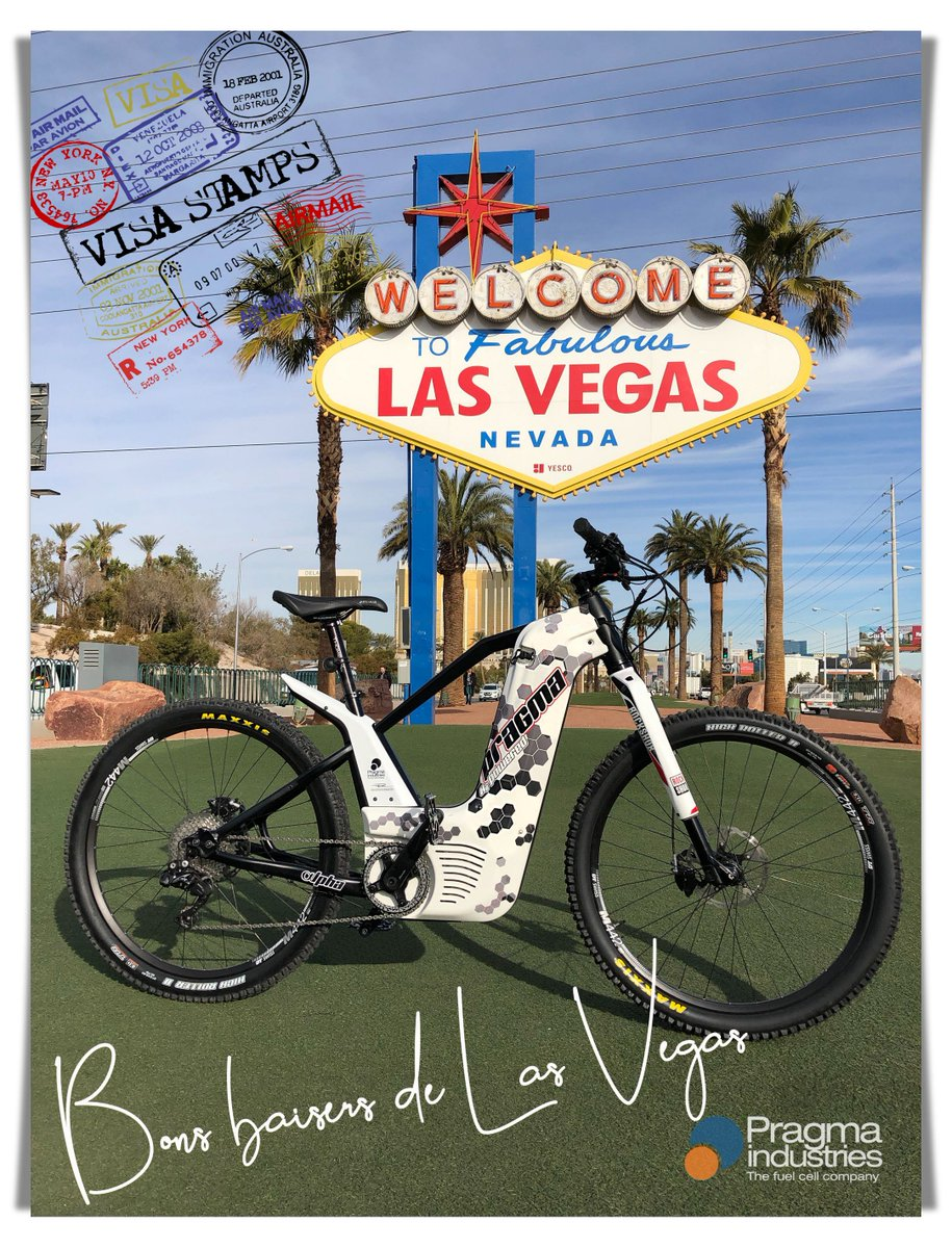 """""""What happens in Vegas stays in Vegas""""😎 #CES2019 #H2bike #H2Now #fuelcellBike #smartMobility #innovation #frenchTech  #TeamNAqui #LasVegas #Technology #mobility #fuelCell #hydrogen #alphaBike"""
