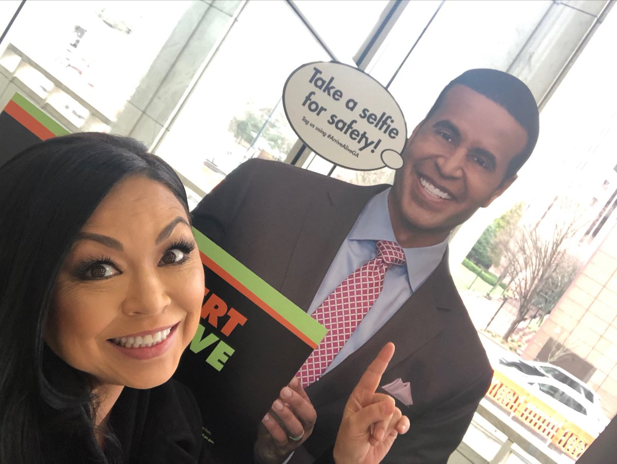 Look who I found ⁦@GDOTATL⁩! ⁦@FBlankenshipWSB⁩, I see you! #arrivealivega