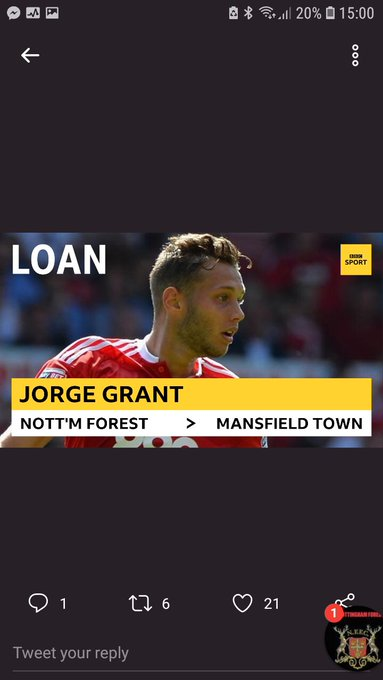 What a signing that is for #mtfc @Bigalanh5 bet you wished you never pissed us off now #NFFC Photo
