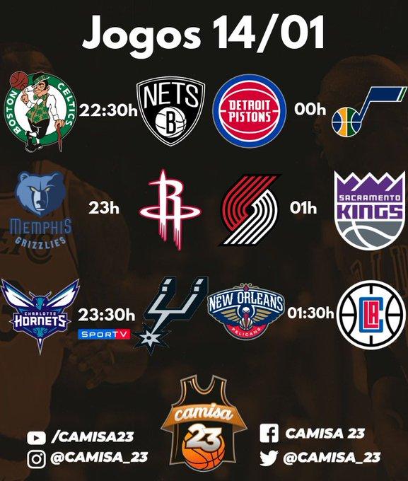 São 6 jogos na #NBA pra começar a semana! O @SporTV transmite Hornets @ Spurs, às 23:30h. O confronto marca a primeira visita de Tony Parker ao AT&T Center desde que deixou o Spurs. #NBAnoSporTV Foto