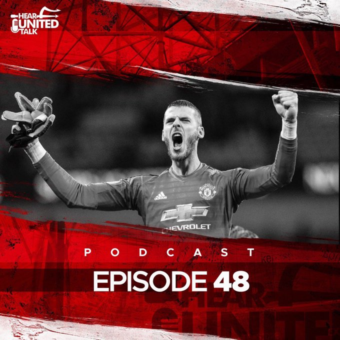 New episode coming tonight🎙 Tom, Jordan & Kieran are back to discuss United's huge win at Wembley, the brilliance of David De Gea, and look ahead to Brighton (H) on Saturday. Available from tonight, don't miss it! #mufc 🔴 Photo