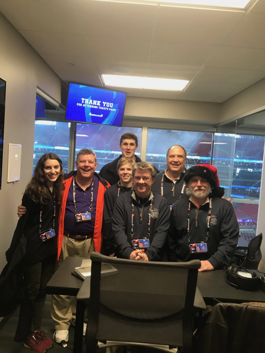 Over winter break, #LovettFootball statistician Lily Siegel &#39;20, worked with the stats crew for the @CFAPeachBowl at @MBStadium <br>http://pic.twitter.com/QAJiFjNOHQ