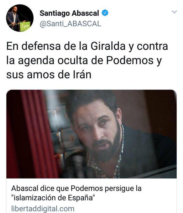 Os acordáis lo que decía Santi de V🤑X sobre PODEMOS e Irán?? Pues parece que el es el que tiene amos iraníes al #LaCafeteraIroníaIraní Foto
