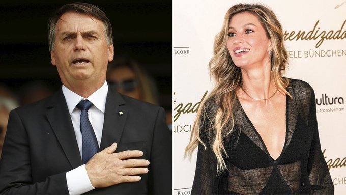 Jair Bolsonaro le ofreció un puesto en su gobierno a la top model Gisele Bündchen Foto