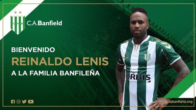 Reinaldo Lenis fue oficializado por Banfield como su nuevo refuerzo. El colombiano, quien llega procedente de Nacional, regresa a Argentina en donde ya había estado con Argentinos Juniors. Foto