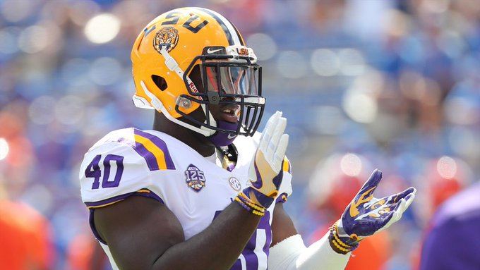 #LSU LB Devin White has declared for the 2019 #NFLDraft. This guy is up there with the best linebackers I've evaluated. He has everything the NFL looks for in a LB. Congrats on an outstanding college career, and good luck in the NFL @DevinWhite__40! Photo