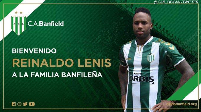 ¡Nuevo refuerzo para el Taladro! El colombiano Reinaldo Lenis fue oficializado por Banfield y será dirigido por Hernán Crespo. Foto