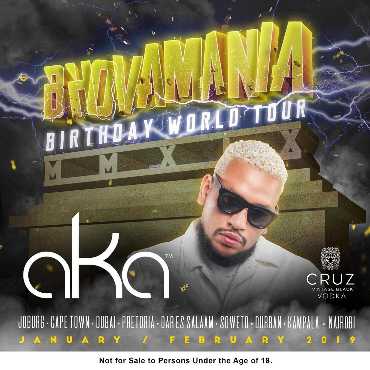 """DI MOLTI TSALENTED #1 🥇 SUPA MEGA STAR PRESENTS: """"THE BHOVAMANIA ⚡️🐺 BIRTHDAY WORLD 🌍 TOUR """" ✈️💸 Venues, Dates and Special Guests to be announced soon ... #BBWT #31 #MMXIX ⛽️🔥 @Cruzvodka 🇿🇦🇦🇪🇺🇬🇰🇪🇹🇿"""