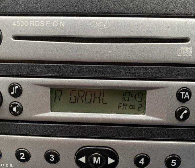 Been in my car for 2 hours and only just noticed this 😂😂 #RadioGrohl #PleasePlayLow @RadioX Photo