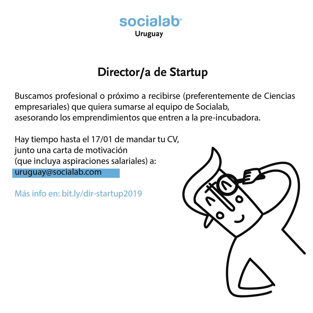 Socialab Uruguay On Twitter Oportunidad Laboral