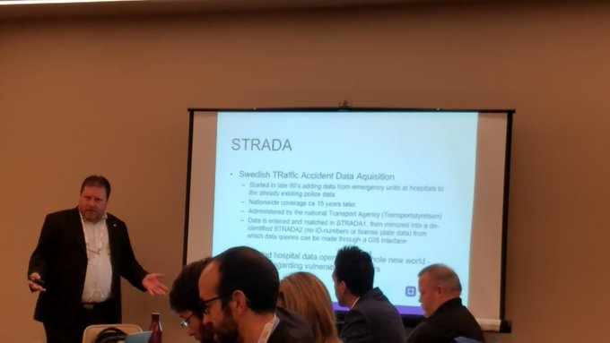 From Strava to STRADA: Swedish Traffic Accident (sic) Data Acquisition draws emergency room data from hospitals, matches up w/police reports for a whole new world of crash analysis. Big difference between police reports (more car crashes) than hospital (more bike/ped). #TRBAM Photo