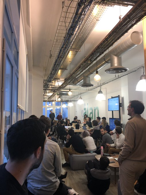 Monthly AHA (All-hands) meeting when you are 65 Alaners 😮 at @alan_assurance Photo