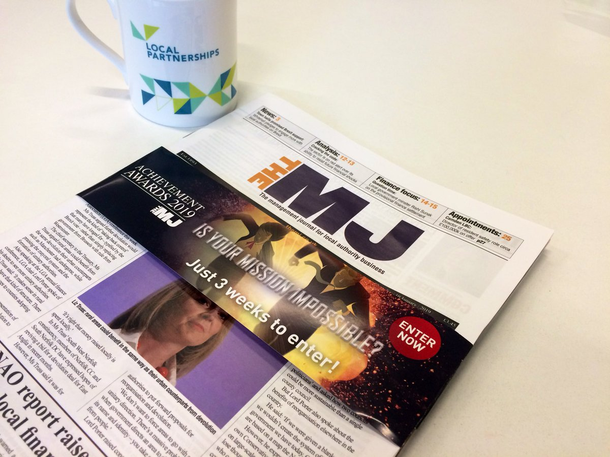 Catching up with last Thursday's @themjcouk which reminds us... only 3 weeks to enter for the #AchievementAwards 2019! Enter here > https://t.co/wB6rGlGD6h ✨ #LocalGov #Achievement