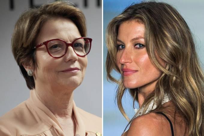 Ministra ironiza Gisele Bündchen e diz que quer modelo como 'embaixadora'... Foto
