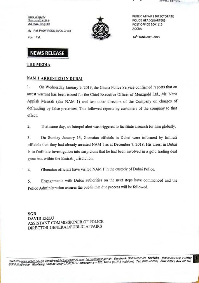 Confirmed: NAM1 Nabbed In Dubai More Than One Month Ago