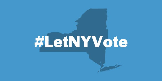 Today, the New York legislature is set to pass: ✅early voting ✅pre-registration for 16 & 17 year olds ✅same day voter registration ✅consolidated primary day ✅portable voter registration ✅no excuse vote by mail #LetNYVote #VotingRights @commoncauseny Photo