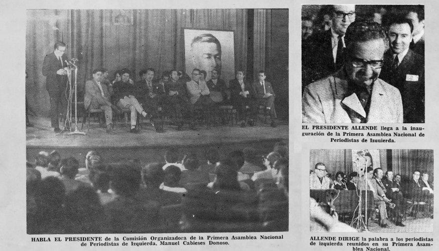 """Vagabundo ilustrado on Twitter: """"Efectivamente el Presidente Salvador Allende dio un discurso ante la Asamblea Nacional de Periodistas de Izquierda, que se efectuó en Santiago de Chile, entre los días 9 y"""