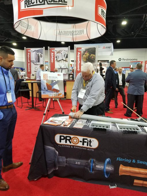Come by and see the PRO-Fit™ in action at #AHRexpo2019 booth #C6119 @ahrexpo. Photo