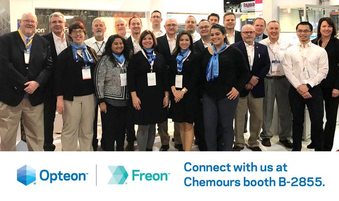 We're ready to kick-off the first day of @AHRExpo! The team is excited to connect with attendees around key topics driving innovation in the refrigerants industry at @Chemours booth B-2855. Stay tuned for LIVE updates. #AHRExpo Photo