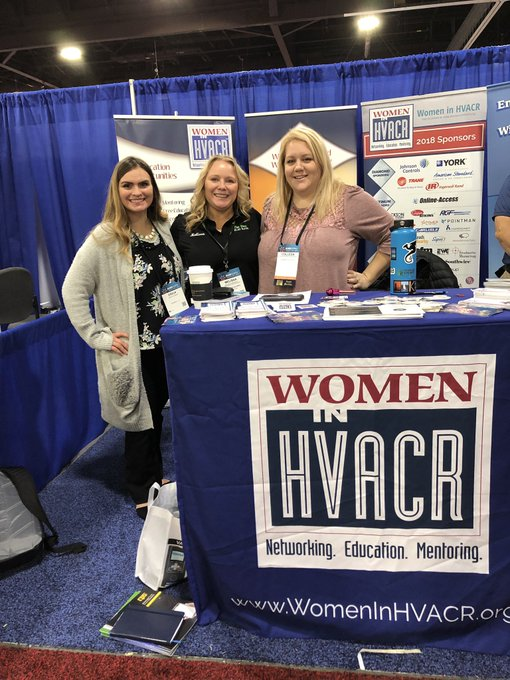 All the ladies go check out @WomenInHVACR at #AHR2019! 👏🏼💃🏻 @ahrexpo Photo