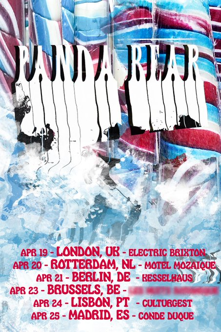 New - @pandabear has announced a European tour and a UK show at @electricbrixton on April 19! Get tickets on Friday Photo