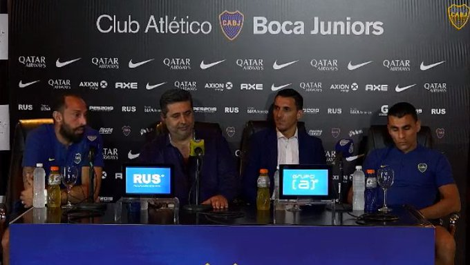 Junior Alonso: Porque él y Marcos Díaz fueron presentados como nuevos jugadores de Boca Foto