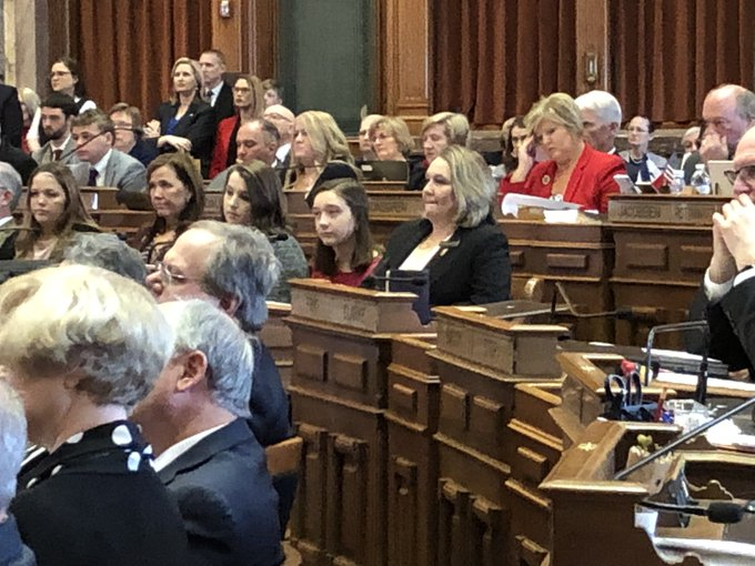 45 women serving in the #ialegis this year, a record number. #iapolitics @KCCINews Photo
