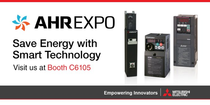 Extreme temps & humidity? No problem! Let us help with your AHU design needs with our industry-leading VFDs that come with a 5-year warranty! Visit booth C6105! #ahrexpo #MitsubishiFA Photo
