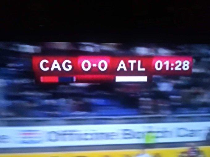 Atalanta abbreviato in ATL e non ATA come al solito In effetti CAG ATA suonava male #CoppaItalia #CagliariAtalanta Foto