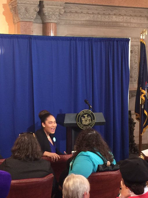 @NYSenDems press conference is starting soon. Stay tuned for live video (we hope) here #LetNYvote Photo