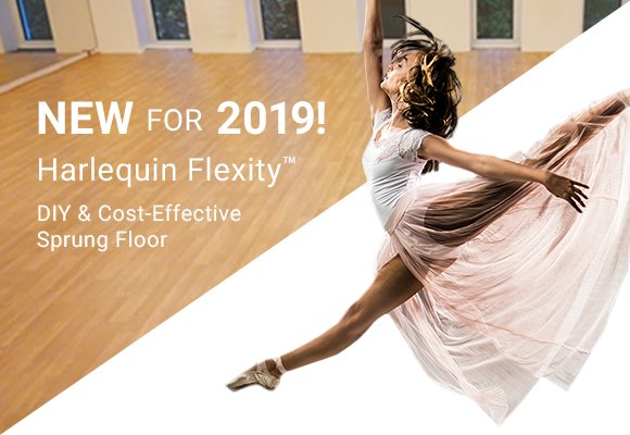 Harlequin Flexity™ Harlequin Flexity™ is a cost-effective, self-install sprung floor panel system, designed for permanent or semi-permanent installation.