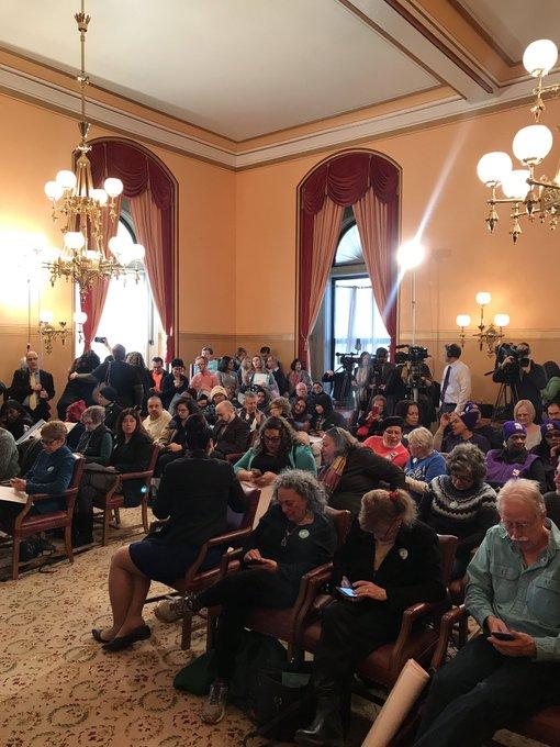 Everyone getting ready for major #VotingReform announcement! #LetNYVote Photo