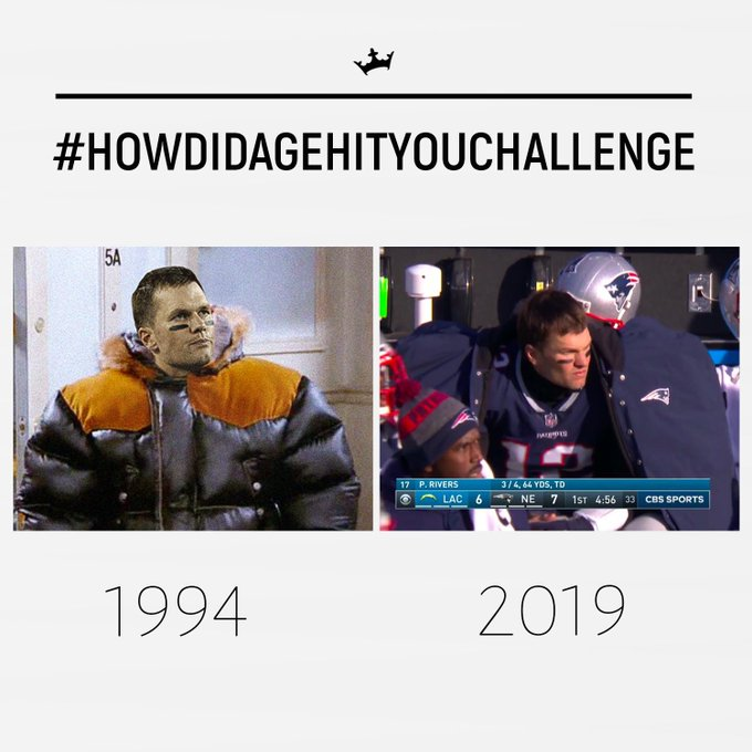 The #howdidagehityouchallenge meets The TB12 Method. #GoPats Foto