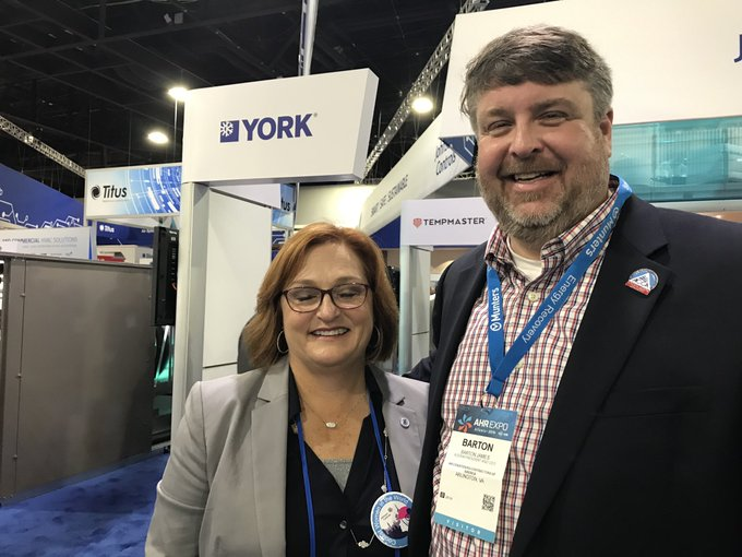 Great spending time with Elizabeth Haggerty at #AHRExpo! Liz represents @YorkHVAC, an ACCA Corporate Partner. She is a big supporter of contractors and ACCA! Photo