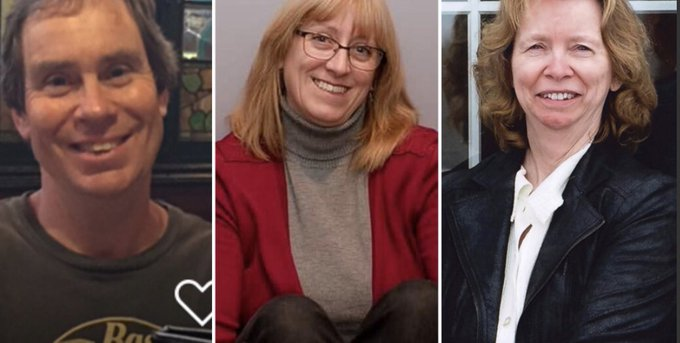Bruce Thomlinson, 56, Judy Booth, 57 and Anja Van Beek, 65, were all killed when the OC Transpo double-decker bus slammed into the Westboro Station at 3:15pm Friday. Photo