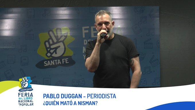 a 5 años de la presentacion de Nisman contra CFK, veamos la charla de Pablo Duggan en la Feria del Libro Nacional y Popular de su libro ¿Quién mató a Nisman? Foto