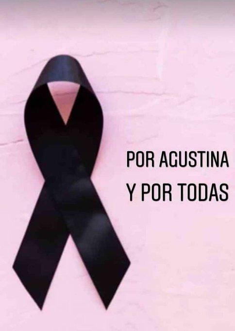 Por Agustina y por todas! ✊🏼 No apareció muerta, la asesinaron. Nos matan por despecho, por odio, por cualquier cosa. Vamos a seguir luchando y gritando #NiUnaMenos #VivasNosQueremos! Foto