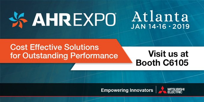 Let us show you some of our advanced control methods that will help you for many years to come. Visit booth C6105 @ahrexpo to learn more! #MitsubishiFA Photo