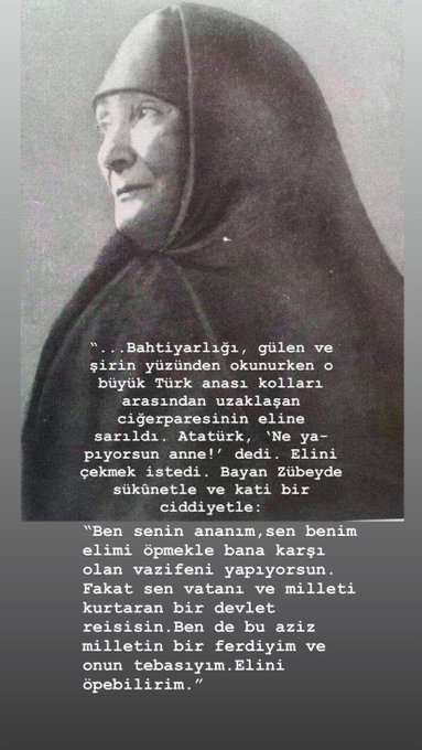 #SeninleyizHaydarBaş#SeninleyizHaydarBaş Tarihte bugün: 'te Molla Zübeyde vefat etmiştirZübeyde anamızın onurunu şerefini soyunu iade eden Türk elbette seninleyiz Photo