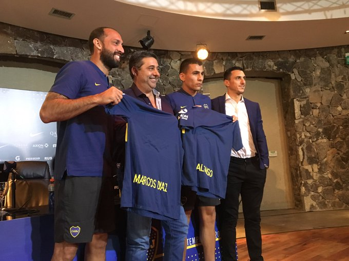 Marcos Díaz y Junior Alonso nuevos refuerzos de Boca. 🔷🔶🔷 Foto