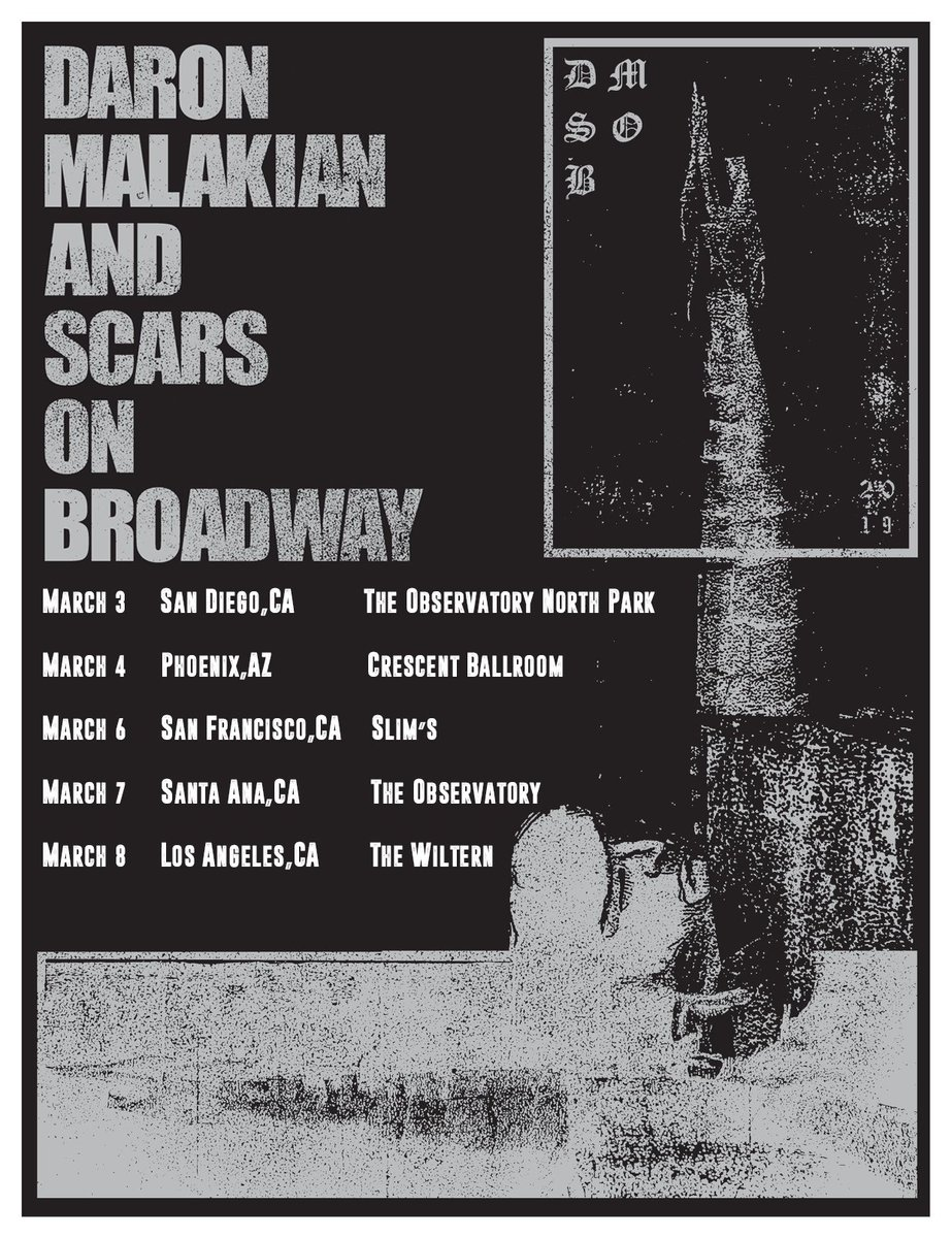 Scars on Broadway anuncia turnê nos Estados Unidos