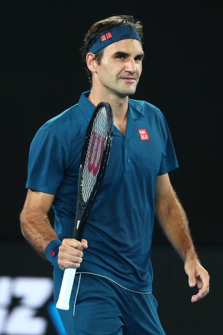 Federer 🇨🇭 se estrenó con comodidad en el #AusOpen Photo
