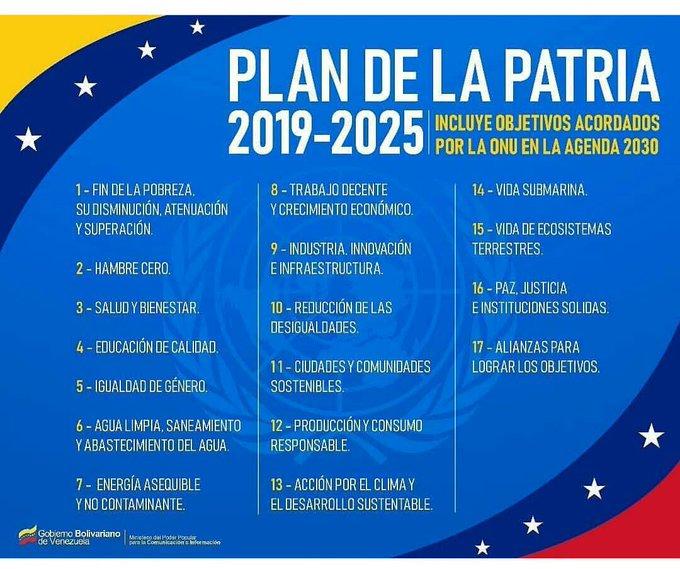 El Plan de la Patria 2019 - 2025 es nuestra ruta de trabajo, la construimos junto al pueblo. Estamos comprometidos a enfocarnos en este proyecto de país y hacerlo realidad. #MaduroMemoriaYCuentaANC Photo