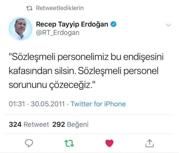 Sayın Başkanım sizden müjdeli Haberleri bekliyoruz. Bizi maduriyetten kurtarın #SözleşmlyeKadroCumhurdan #RT_Erdogan Fotoğraf