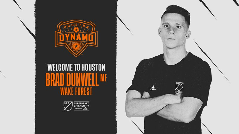 With the 8th pick of the 3rd round, the Dynamo select @WakeMSoccer midfielder Brad Dunwell.  #SuperDraft #ForeverOrange<br>http://pic.twitter.com/oaARuQf3wF