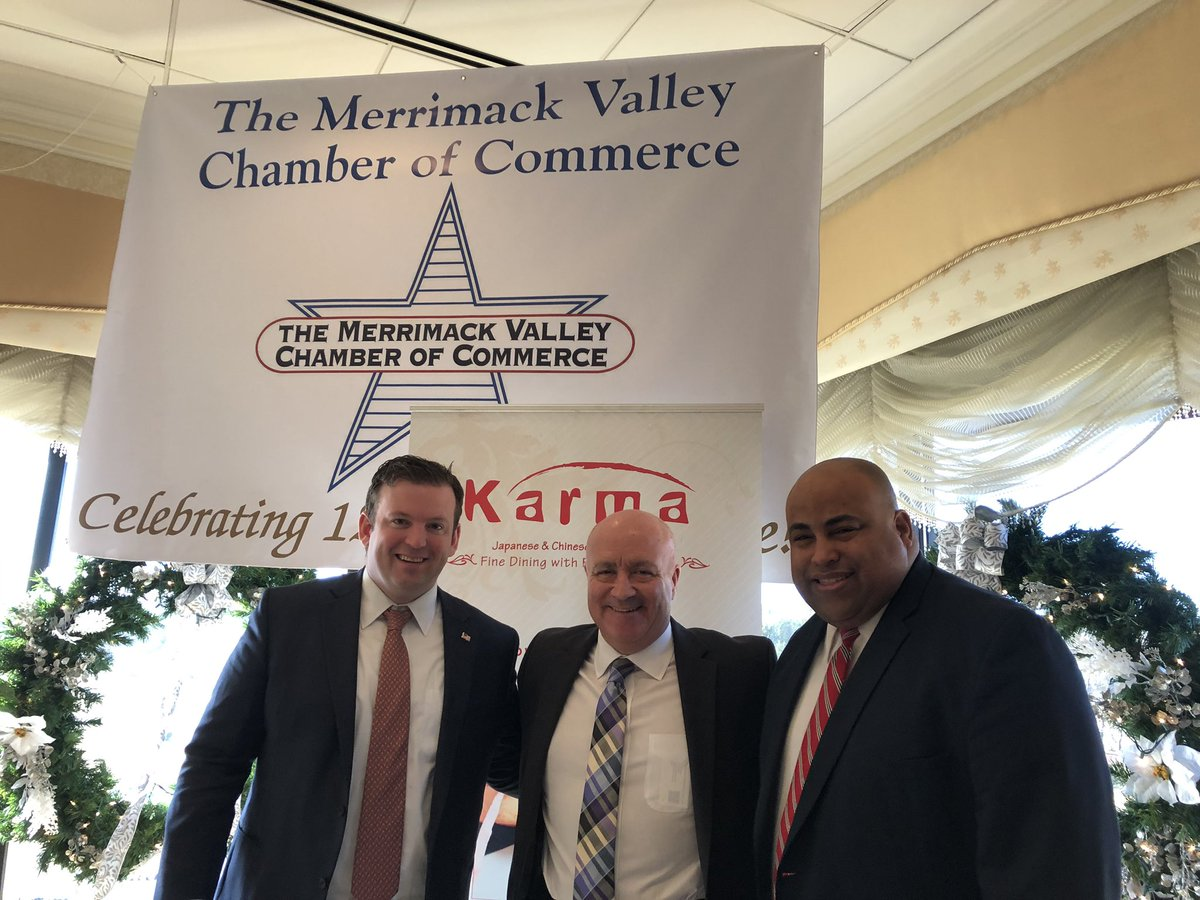 Mayor @danrivera01843 and Town Managers @AndrewPFlanagan @Town_Mgr_Maylor were recognized for their leadership throughout the #mvgasfire disaster at Merrimack Valley Chamber of Commerce Mayor's/Managers breakfast this morning. They are the 3 best friends that anyone could have! <br>http://pic.twitter.com/ZPUuMGEI1M