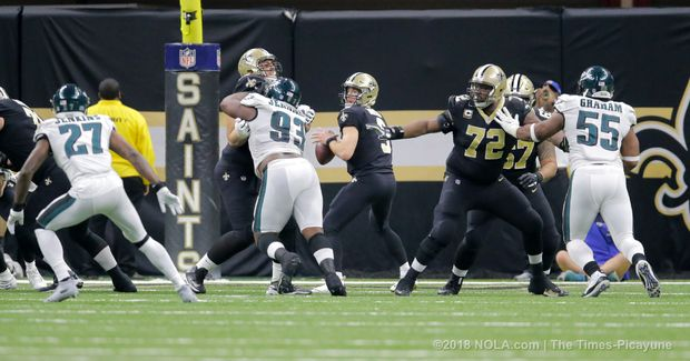 Saints snap counts vs. Eagles: Starting 5 OL play 100 percent of snaps for first time since Week 9 Photo