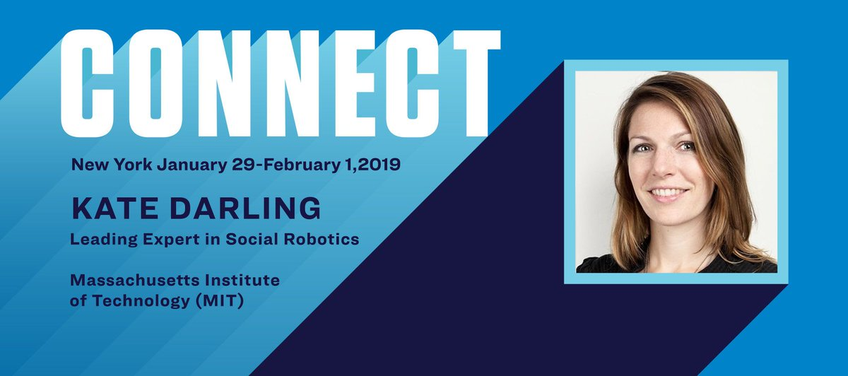 Connect the Speakers: Kate Darling on the ethics of robotics bit.ly/2VSFbbS